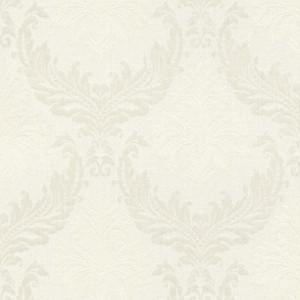 Casa Padrino Barock Textiltapete Weiß / Beige / Creme - 10,05 x 0,53 m - Stofftapete mit Vlies Struktur