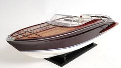 Casa Padrino Luxury Wooden Speedboat Riva Rama Replica Multicolor 94 x 26.7 x H. 27.9 cm - Handmade Deco Model Boat
