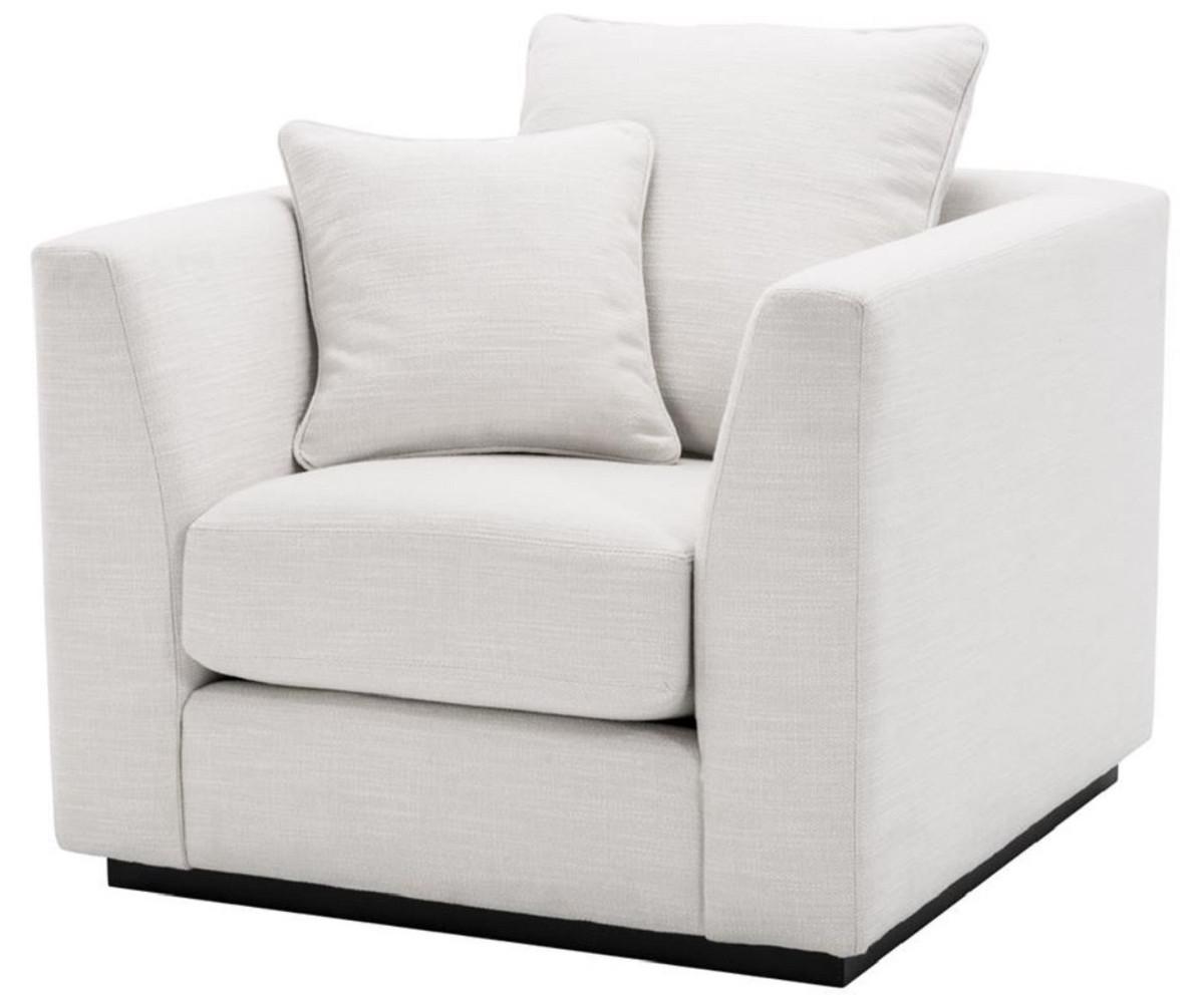Casa Padrino Luxus Mahagoniholz Sessel Schwarz 7 JPG