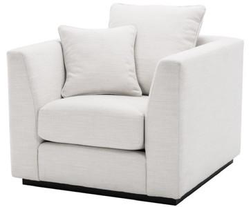 Casa Padrino poltrona da salotto di lusso bianco / nero 98 x 100 x H. 73 cm  - Mobili per Soggiorno