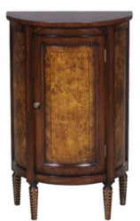Casa Padrino luxury Art Nouveau chest of drawers light brown / brown 51 x 28 x H. 82 cm - Small Semicircular Cabinet with Door