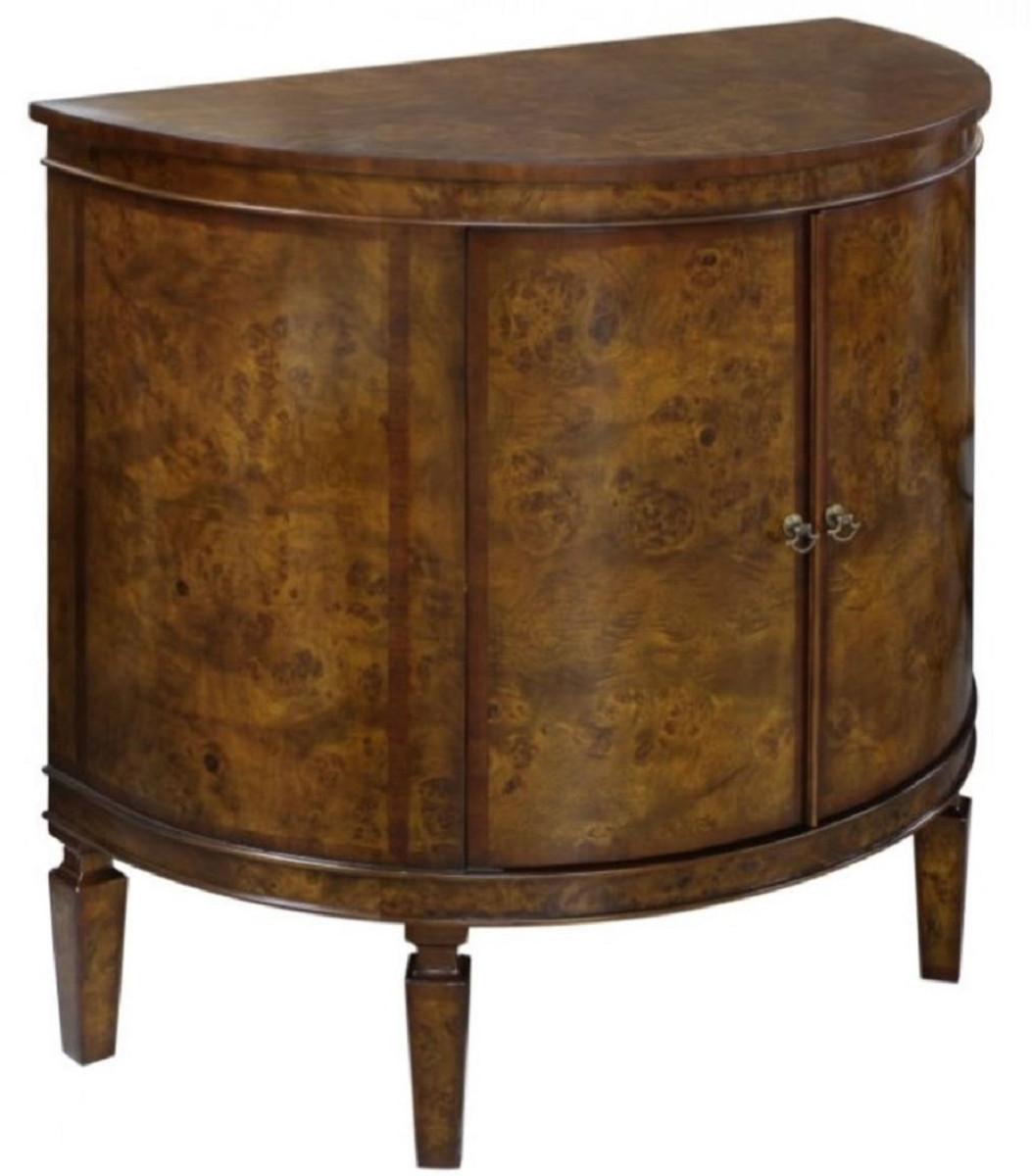 casa padrino luxus jugendstil kommode hellbraun braun 84 x 45 x h 83 cm kleiner halbrunder. Black Bedroom Furniture Sets. Home Design Ideas