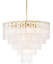Casa Padrino Luxury Chandelier Gold Ø 85 x H. 73 cm - Hotel & Restaurant Chandelier with Frosted Glass