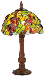 Casa Padrino Luxury Tiffany Table Lamp Multicolor Ø 20 x H. 35 cm - Handmade Stool Lamp