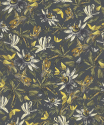 Casa Padrino luxury paper wallpaper plants gray / multicolor - 10.05 x 0.53 m - Wallpaper Botanical Floral Pattern