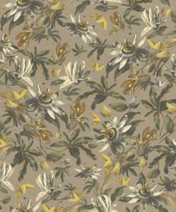 Casa Padrino Luxus Papiertapete Pflanzen Hellbraun / Mehrfarbig - 10,05 x 0,53 m - Tapete Mustertapete Botanisch Blumen  – Bild 1
