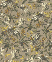 Casa Padrino luxury paper wallpaper plants light brown / multicolor - 10.05 x 0.53 m - Wallpaper Botanical Floral Pattern