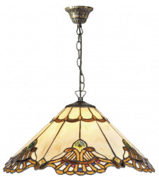 Casa Padrino Luxury Tiffany Hanging Lamp Multicolor Ø 50 x H. 95 cm - Handmade Pendant Lamp from 288 Parts