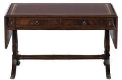 Casa Padrino Luxury Baroque Coffee Table Dark Brown / Brown 84 x 56.3 x H. 49.5 cm - Living Room Furniture