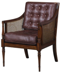 Casa Padrino Luxury Art Nouveau Salon Armchair Dark Brown / Brown 68 x 65 x H. 98 cm - Hotel Furniture