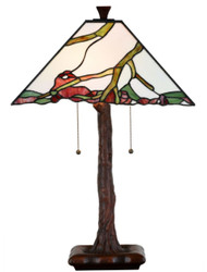 Casa Padrino luxury Tiffany table lamp multicolor 41 x 41 x H. 64 cm - Living Room Deco Accessories
