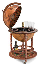Casa Padrino Art Deco Beverage Trolley Globe Bar Brown / Multicolour 60.5 x H. 97 cm - Art Deco furniture
