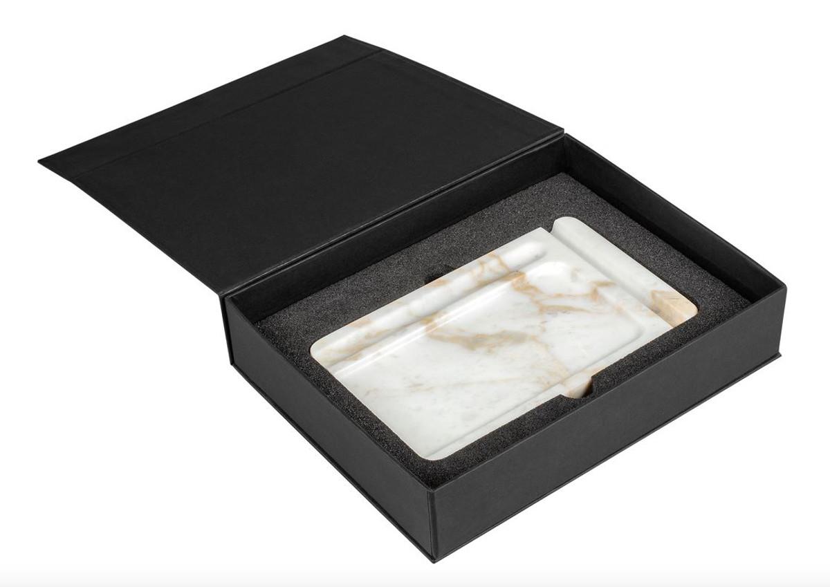 Support de bureau blanc pour tablette de téléphone portable de luxe