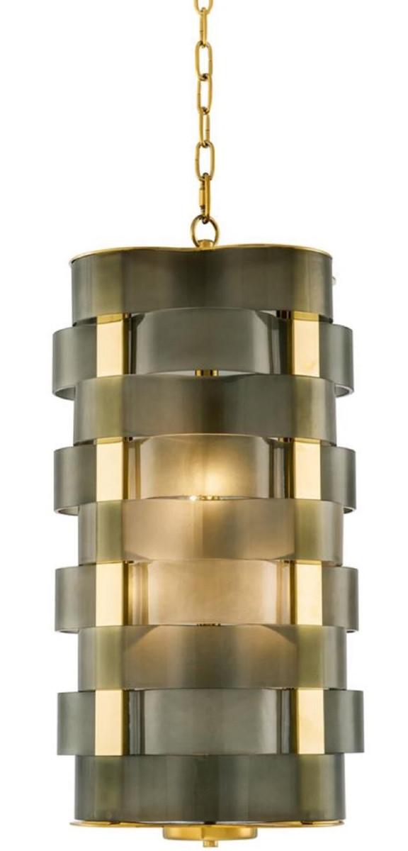 Casa Padrino Luxus Kronleuchter Gold / Grün 33 X 33 X H. 67 Cm   Luxus  Qualität