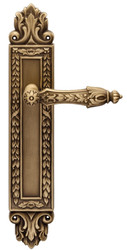 Casa Padrino Baroque Door Handle Set Brass Patinated 16.4 x H. 38.2 cm - Luxury Quality Made in Italy