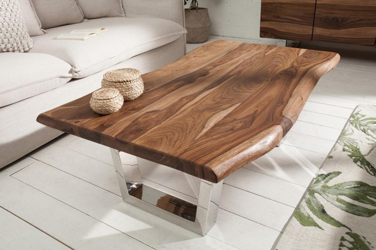 Tavolini Da Salotto Legno Massello.Tavolino Da Salotto In Legno Massello Di Design Di Padrino Di Casa Padrino Marrone Naturale 110 X H 40 Cm Tavolo Da Salotto