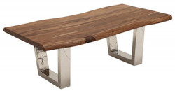 Casa Padrino designer solid wood Sheesham coffee table natural brown 110 x h. 40 cm - living room table