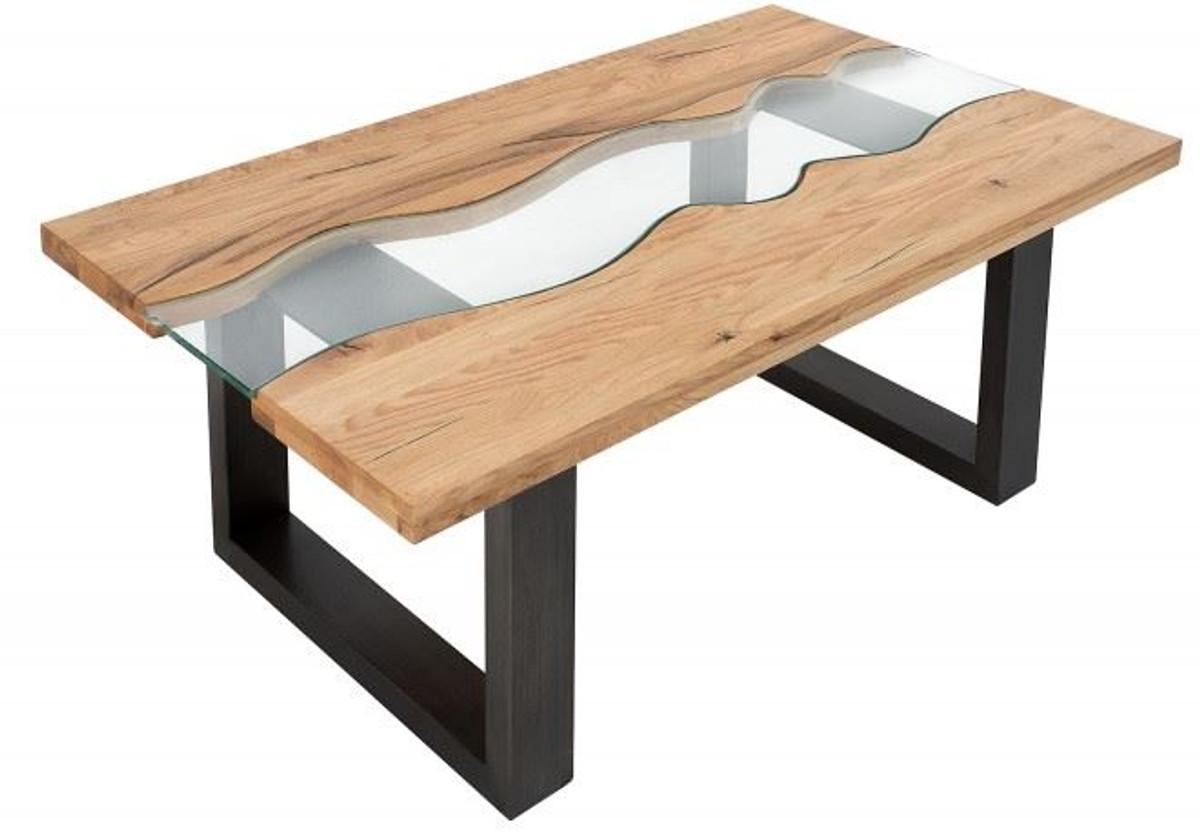 Casa padrino designer massivholz wildeiche couchtisch mit for Designer tisch wohnzimmer