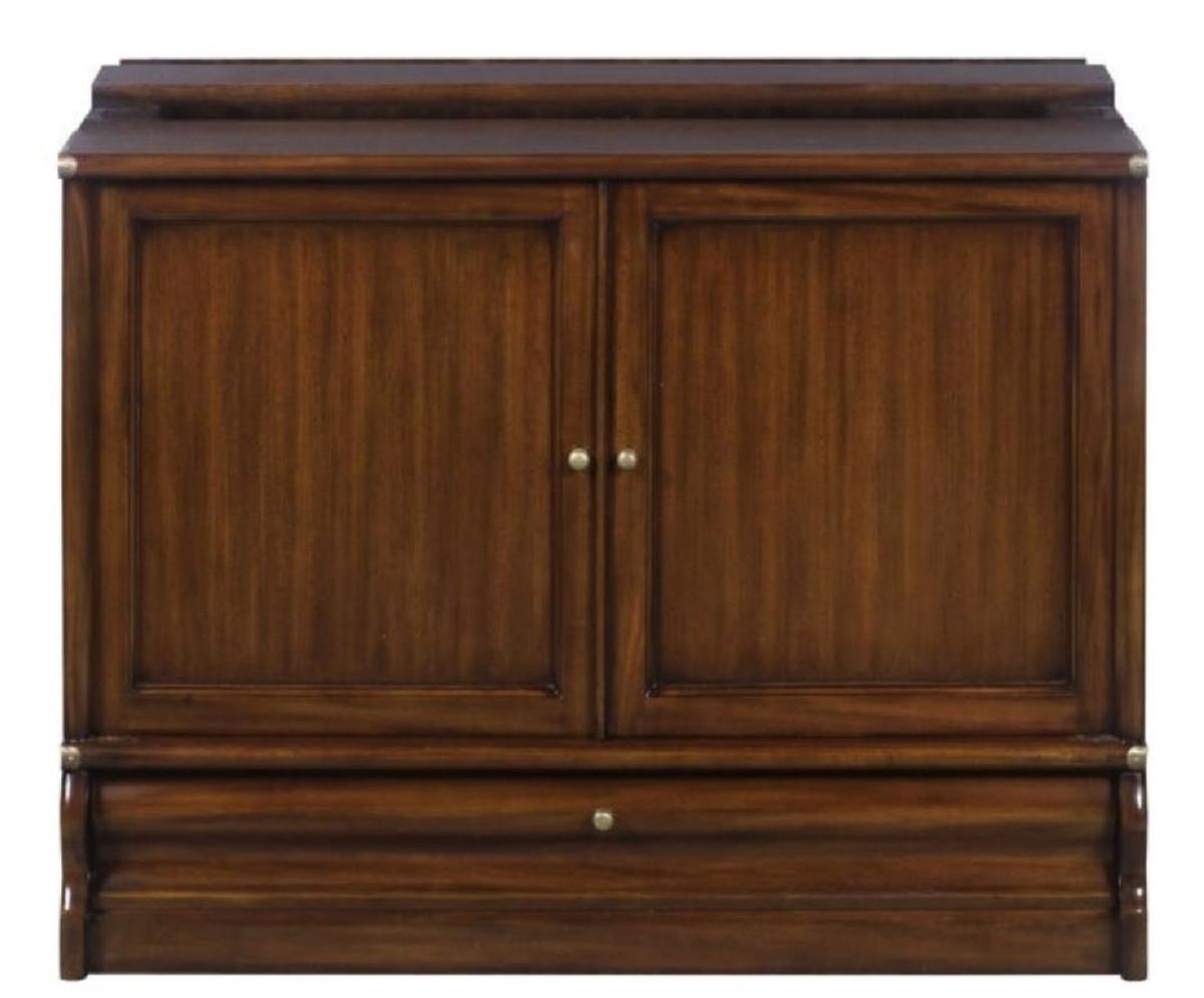 casa padrino luxus mahagoni b cherschrank mit 2 t ren und schublade dunkelbraun 86 x 47 x h 68. Black Bedroom Furniture Sets. Home Design Ideas