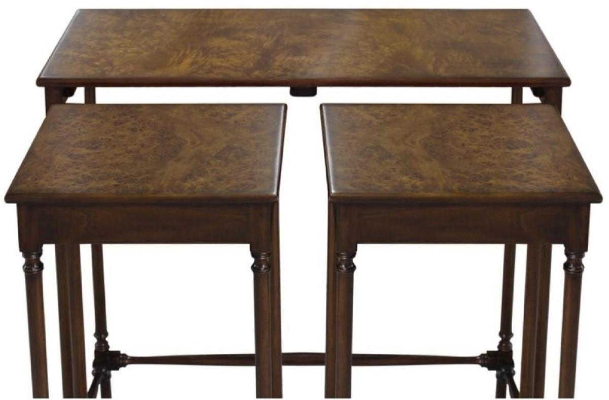 Casa padrino luxury side table set brown dark brown 67 x 28 x h
