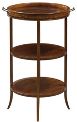 Casa Padrino luxury side table Brown 54 x 47 x H. 80 cm - Round Table with Glass Top and Detachable Tray