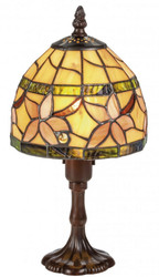 Casa Padrino Luxury Tiffany Table Lamp Brown / Multicolor Ø 15 x H. 30 cm - Luxury Stool Lamp