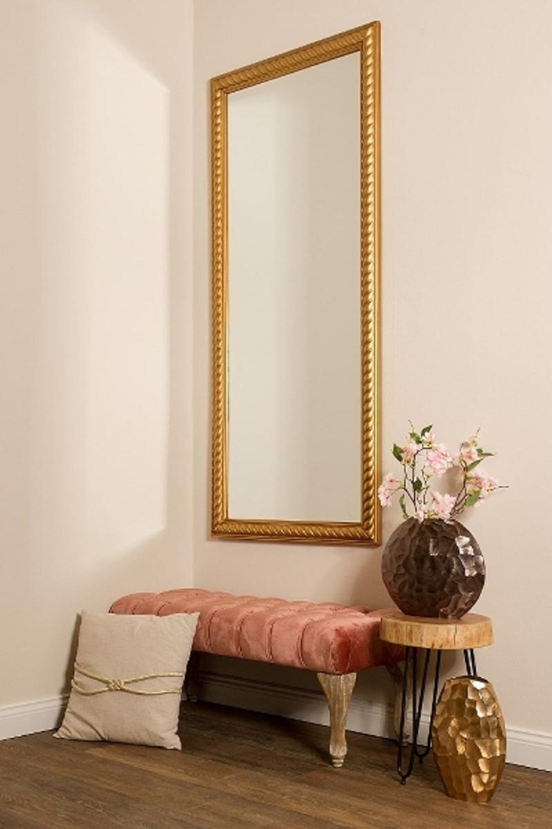 Casa Padrino Barock Wohnzimmer Wandspiegel Antik Gold 72 X H 162 Cm