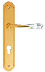 Casa Padrino Luxury Door Handle Set Gold 15 x H. 28 cm - Swarovski Crystal Glass Door Handles