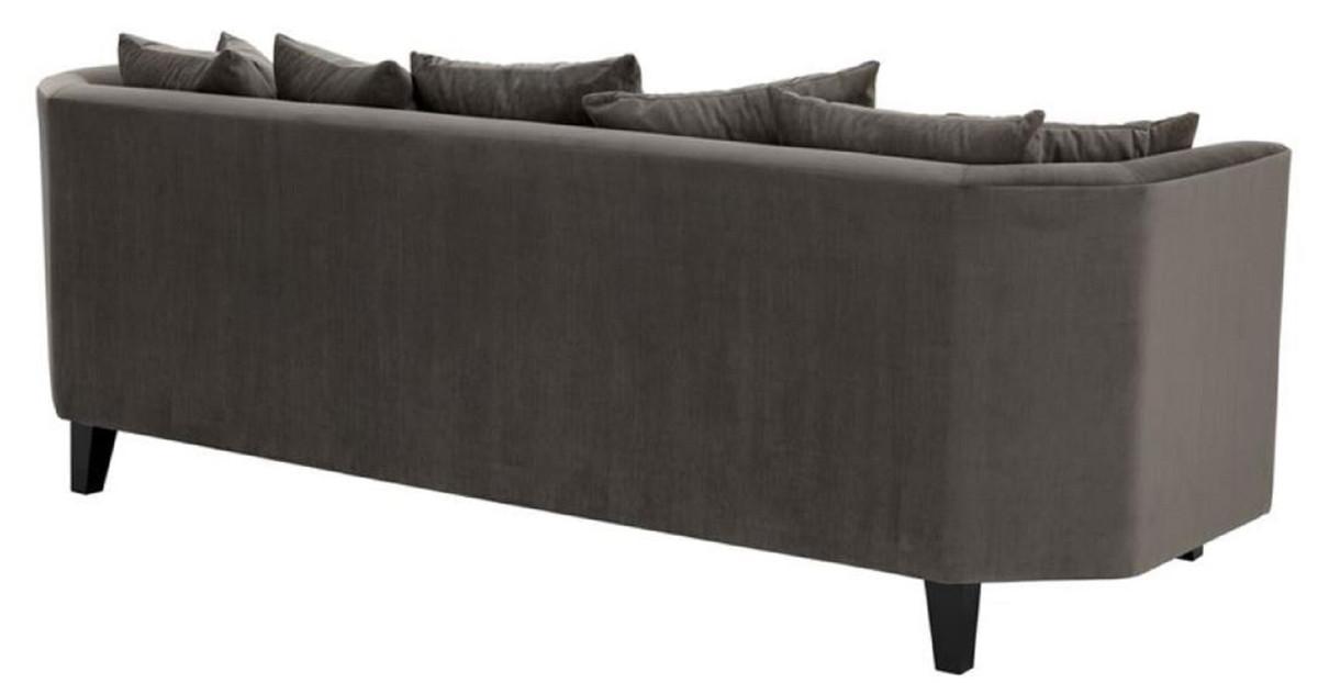 Casa Cm Luxus Mit Schwarz X Padrino Dunkelgrau Sofa 95 H78 Wohnzimmermöbel Kissen 240 80ynPvmNwO