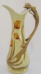 Casa Padrino Art Nouveau Wine Jug Antique Brass / Multicolor 13.6 x 9 x H. 24.2 cm - Baroque & Art Nouveau Decoration Accessories