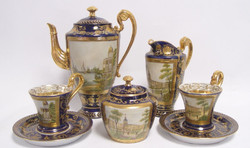 Casa Padrino Baroque Coffee Service Blue / Gold / Multicolor H. 22 cm - Fine Porcelain Tableware