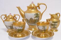 Casa Padrino Baroque Coffee Service Gold / Multicolor H. 19.5 cm - Fine Porcelain Tableware