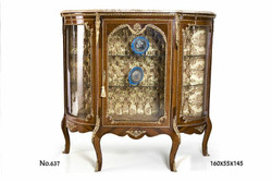 Casa Padrino baroque display cabinet 160 x 55 x H. 145 cm - living room furniture