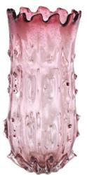 Casa Padrino Luxus Deko Glas Vase Blassrosa Ø 24 x H. 42 cm - Designer Blumenvase