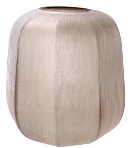 Casa Padrino Luxus Vase Sandfarben Ø 33 x H. 32 cm - Luxus Wohnzimmer Dekoration