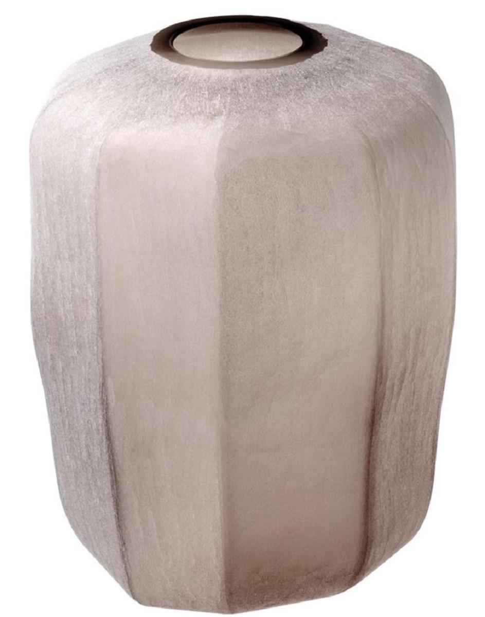 Casa Padrino Luxus Vase Sandfarben Ø 33 x H. 42 cm - Luxus Wohnzimmer Dekoration 2