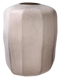 Casa Padrino Luxus Vase Sandfarben Ø 33 x H. 42 cm - Luxus Wohnzimmer Dekoration