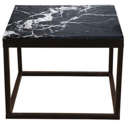 Casa Padrino luxury side table with marble top black 60 x 60 x H. 45 cm - Luxury Furniture
