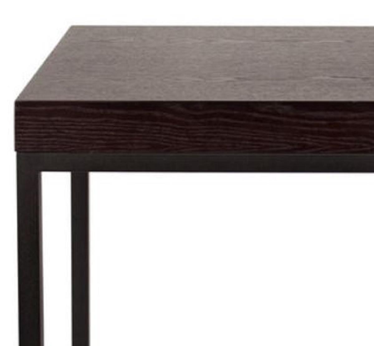 Casa Padrino Luxus Beistelltisch mit Massivholzplatte Schwarz 40 x 40 x H. 60 cm - Luxus Möbel 2