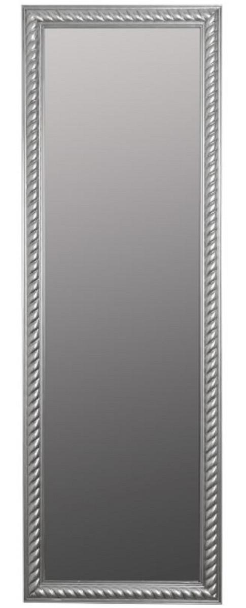 Casa Padrino Barock Spiegel / Wandspiegel Antik Silber 62 x H. 187 cm - Barockmöbel 1