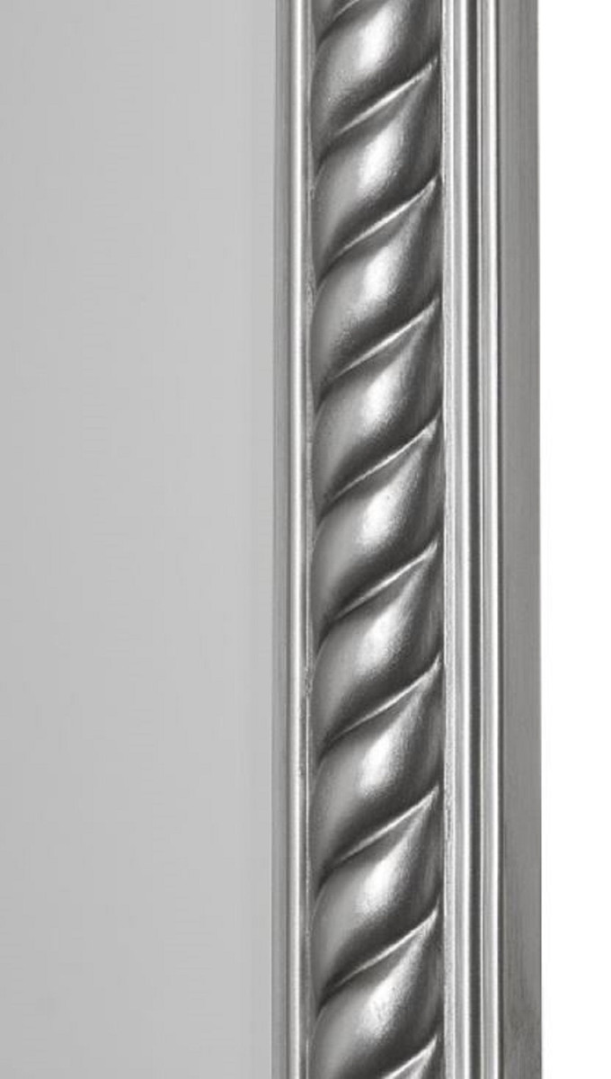 Casa Padrino Barock Spiegel / Wandspiegel Antik Silber 62 x H. 187 cm - Barockmöbel 2