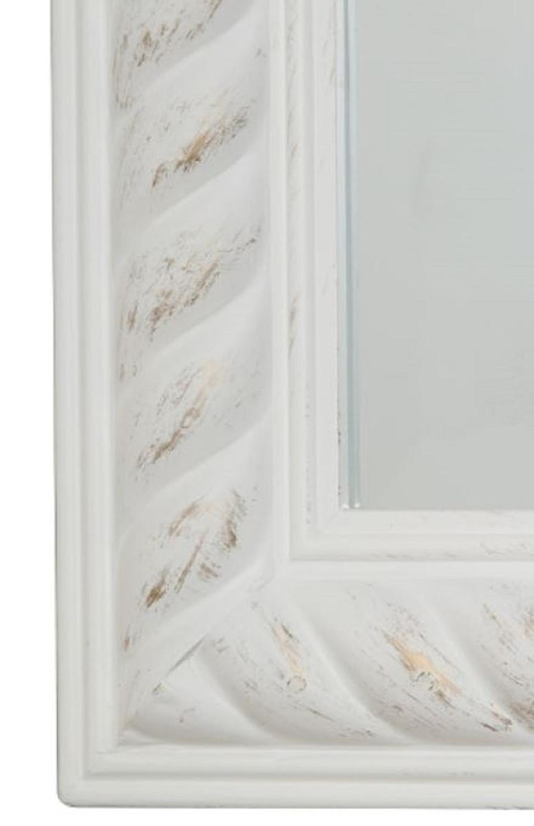 Casa Padrino Barock Wandspiegel Antik Weiß / Gold 62 x H. 187 cm - Barock Spiegel 2