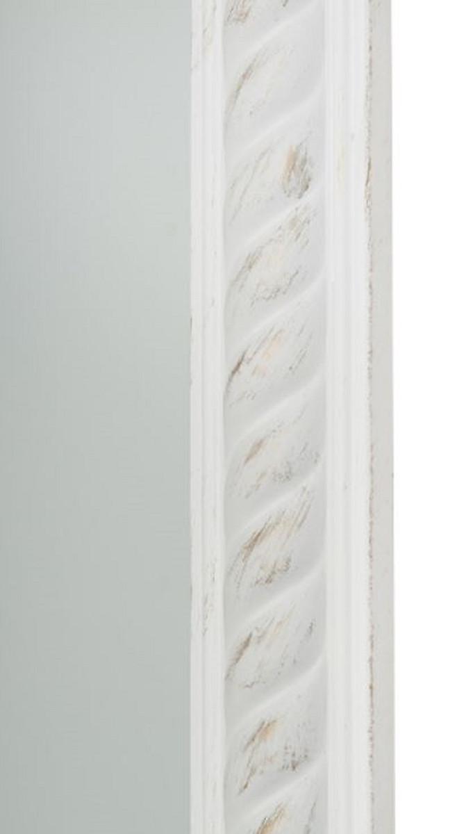 Casa Padrino Barock Wandspiegel Antik Weiß / Gold 62 x H. 187 cm - Barock Spiegel 3