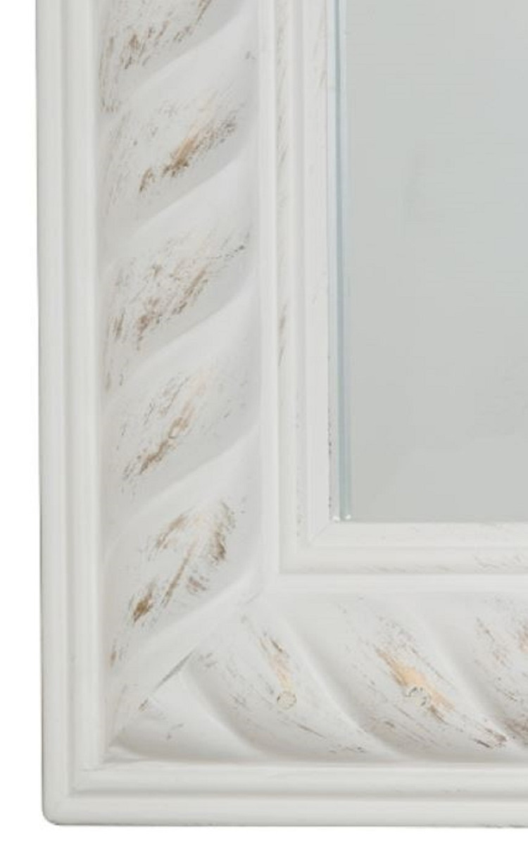 Casa Padrino Barock Spiegel Antik Weiß / Gold 62 x H. 82 cm - Barock Wandspiegel 2