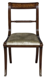 Casa Padrino luxury baroque dining chair brown / gold 50 x 51 x H. 86 cm - Luxury Quality