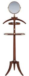 Casa Padrino Luxus Dressboy mit Spiegel Braun 51 x 36 x H. 160 cm - Kleiderständer Garderobenständer Anzugständer Stummer Diener Herrendiener