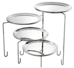Casa Padrino Luxury Stainless Steel Service Stand Silver 35 x 29.5 x H. 37 cm - Hotel & Restaurant Accessories