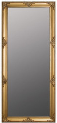 Casa Padrino Baroque Wall Mirror Gold 72 x H. 162 cm - Handcrafted Baroque Mirror with Wooden Frame and Beautiful Decorations