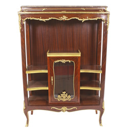 Casa Padrino Baroque Display Cabinet - Baroque Furniture - Display Cabinet 100 x 44 x H 150cm - Cabinet Mahogany Cabinet / Gold