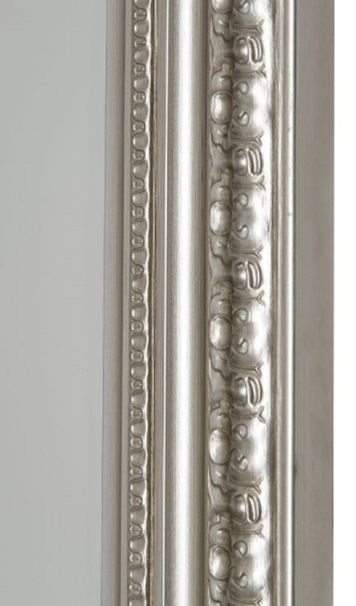 Casa padrino barock wandspiegel silber 62 x h 82 cm handgefertigter spiegel im barockstil - Barock wandspiegel silber ...